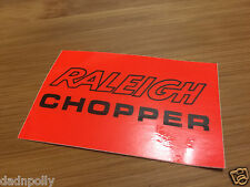 RALEIGH CHOPPER MK 2 SEAT PLATE DECAL - FLUORESCENT ORANGE  CHOPPER SEAT STICKER