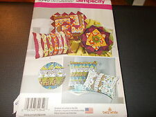 Simplicity Pattern 1340 ~ Betz White ~ (5) Styles Decorative Patchwork Pillows