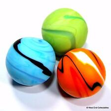 Set of 3 x 22mm Sand Stone Opaque Glass Toy Marbles - Handmade Marble Collectors