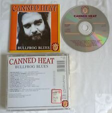 RARE CD ALBUM CANNED HEAT BULLFROG BLUES 13 TITRES 1991 MADE IN EEC