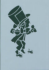 ALICE IN WONDERLAND DETAILED MAD HATTER 190m A5 MYLAR RE USEABLE STENCIL