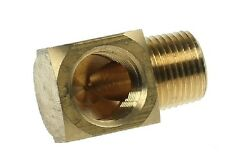 "3/8"" to 3/8"" Brass 90 Degree Elbow Barbed Oil Fitting Adapter Push Taper Thread"