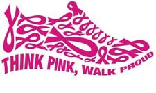 Breast Cancer Awareness Walk Groups Cars Truck Glass Tablet Decal Sticker