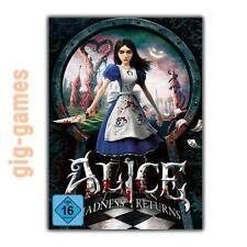 Alice: Madness Returns PC spiel Origin Download Digital Link DE/EU/USA Key Code