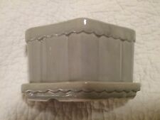 Shawnee flower pot, small size slightly used, gray, diamond shaped planter