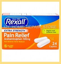 24 REXALL EXTRA STRENGTH ACETAMINOPHEN PAIN RELIEF CAPLETS 500Mg GENERIC TYLENOL