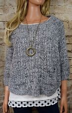 MOTH ANTHROPOLOGIE Marled Swing Pullover Cropped Sweater Medium