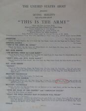 """IRVING BERLIN AUTOGRAPHED PROGRAM """"THIS IS THE ARMY"""" 1945 LEYTE PHILIPPINES WWII"""