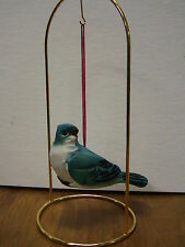 Brand New Wooden Hand Carved Blue Jay style hanging Ornament Bird figurine