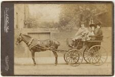 EARLY HORSE DRAWN COACH CABINET PHOTO GREAT NORTHERN STUDIO SEVEN SISTERS R