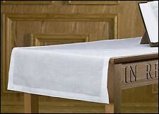 "Altar / Communion Table Runner - 24 x 62"" Long 100% LINEN  NEW (MD038)"