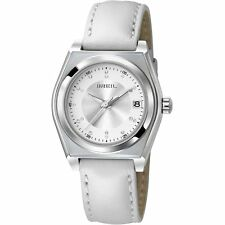 Breil Escape TW0931 Ladies White Leather Strap Watch Swarovski Crystals New