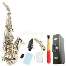 New LADE Silver Beginner Bb Soprano Brass Saxophone Woodwind Sax wtih Case