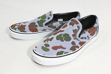 Vans Classic Slip On (Herringbone) Camo/Navy Men's Skate Shoes SIZE 8.5