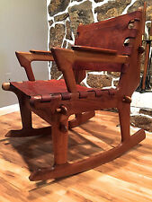 Vyg 1960's Mid Century Modern Rosewood Lounge ROCKING Chair by Angel Pazmino