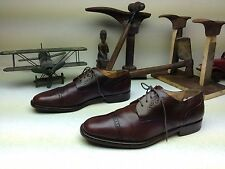 BROWN LEATHER BRUNO MAGLI TALBOT CAP TOE LACE UP OXFORD BUSINESS DRESS SHOES 12M