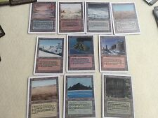 MTG Magic The Gathering Revised Dual Lands Proxy set Lot BAYOU TUNDRA TROPICAL