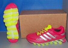 GIRLS ADIDAS SPRINGBLADE RAZOR J in colors PINK / YELLOW / WHITE SIZE 6.5