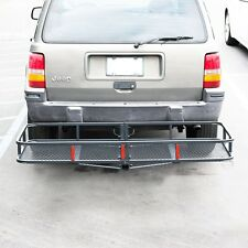 """60"""" Folding Cargo Carrier Luggage Rack / Hauler Truck or Car Hitch 2"""" Receiver"""