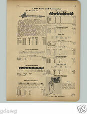 1951 PAPER AD Disston 2 Two Man Chain Saw 12 HP 4000 RPM 2 Cylinder