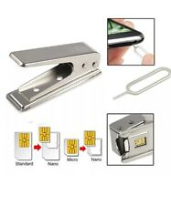STANDARD MICRO TO NANO SIM CARD METAL CUTTER +2 ADAPTERS FOR APPLE IPHONE