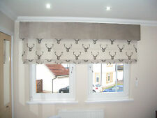 ROMAN BLIND MADE TO MEASURE STAG DESIGN- CHILD SAFE CHAIN TRACKS AS STANDARD