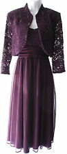 R&M Richards 2 pieces set jacket dress lace elegant occasion knee lenght sz 12P