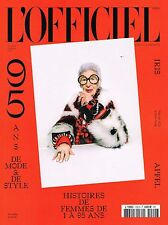 L'OFFICIEL 10/2016 95 Anniversary IRIS APFEL Angela Lindvall DAMARIS GODDRIE New