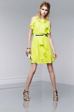 Prabal Gurung For Target Ruffle Dress Sulphur Yellow chiffon chic NEW NWT SIZE 6