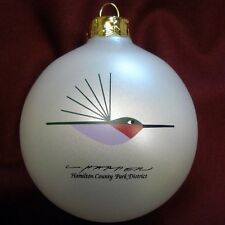 Charlie/ Charley Harper - Glass Christmas Ornament - RUBY-THROATED HUMMINGBIRD