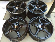 "19"" NEW OEM FACTORY PORSCHE 997 BLACK EDITION TURBO WHEELS 911 993 996 998"