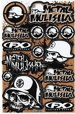 1 SHEET METAL MULISHA DECAL DECALS STICKER STICKERS #S004