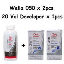 Wella Color Charm 050 Cooling Violet  2-Pack with 20 vol Cream Developer