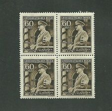 Mint stamp block / Adolph Hitler / 1944 B a M  Issue / 60 + 1.40 / MNH Block