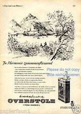 Zigaretten Oberstolz XL Reklame 1956 Schloss Reichenau Graubünden Schweiz (D)