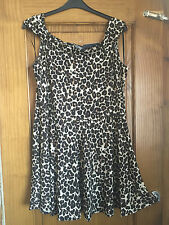 SEXY Bardot/off the shoulder skater dress - PLUS SIZE 22 - Animal Print - Party