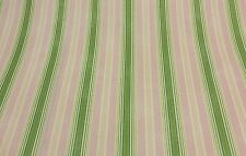 """WAVERLY RODEO DRIVE PINK GREEN STRIPE CURTAIN CUSHION FABRIC BY THE YARD 54""""W"""