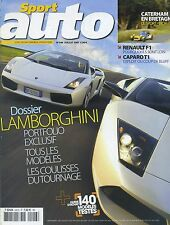 SPORT AUTO n°546 JUILLET 2007 DOSSIER LAMBORGHINI CAPARO T1