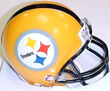 Pittsburgh Steelers 2007-Current Riddell Gold Throwback Football Mini Helmet