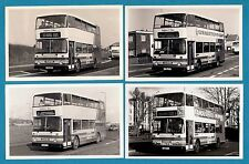 4 Bus Photos - Brighton & Hove: East Lancs Scania N112/3 Deckers - 1980s/90s