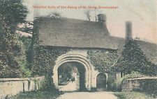 POSTCARD  GLOUCESTERSHIRE  CIRENCESTER  Hospital gate of the Abbey