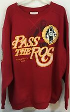 Pass The Roc Basketball Club Sweatshirt Red Embroidered Logo Size XXL