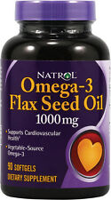 Omega-3 Flax Seed Oil, Natrol, 200 softgels 1 pack