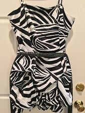 City Studio Black White Bubble Club Sexy Stretch Formal Party Zebra Dress 13 14