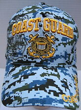 U.S.COAST GUARD VETERAN Cap/Hat DigitalBlue w/ Shadow New Military Free Shipping