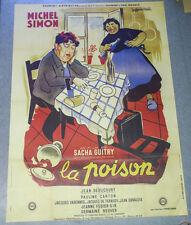 Affiche de cinéma : LA POISON de Sacha GUITRY