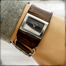 RIP CURL DUNE A2040G Brown Leather Band Mirror Dial Working Woman's Watch 66505