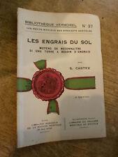 Engrais du sol reconnaitre besoin engrais Vermorel manuel syndicats agricoles