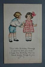 R&L Postcard: Children Artist Drawn Card, Birthday Wishes, Gibson Art Co