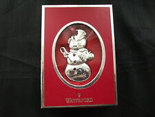 "Waterford Silver Plated  ""2012 Snowman""  Christmas tree Ornament - New & Boxed"
